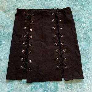 Dresses & Skirts - Sexy Black Lace Up Skirt